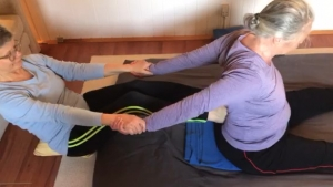 Thai Yoga Massage - Feet to Back Stretch